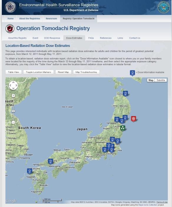 Operation Tomodachi Registry(Dose Map)
