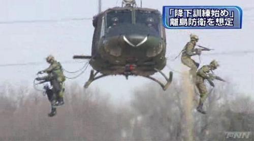 陸自第1空挺団降下訓練始め4-5