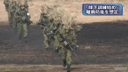 陸自第1空挺団降下訓練始め4-6