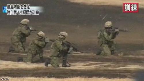 陸自第1空挺団降下訓練始め4-7