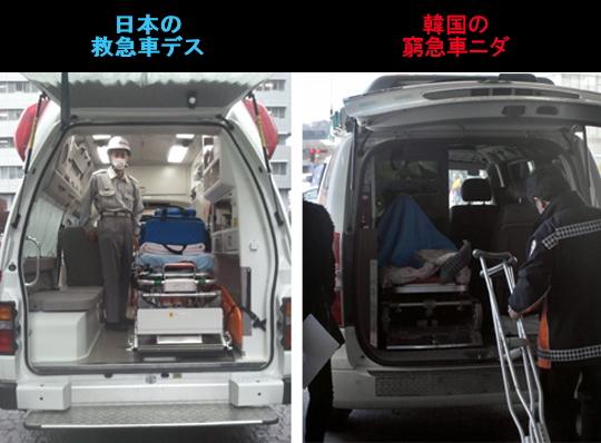 救急車、韓国と日本で何が違う1
