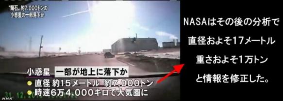 隕石落下・小惑星の破片1