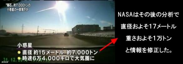 隕石落下・小惑星の破片3