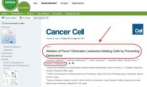 がん幹細胞⇒新治療の可能性7(米国科学雑誌Cancer Cell)