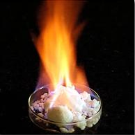 メタンハイドレート・燃焼写真