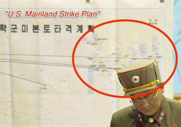 北朝鮮・米本土攻撃計画マップ