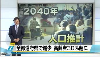 2040年には全都道府県で人口減少へ1