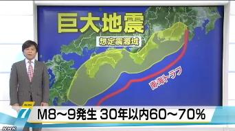 南海トラフ巨大地震の確率公表1