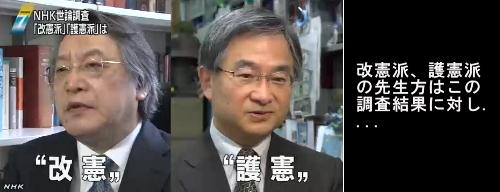 NHK世論調査・憲法改正13