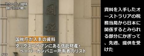 国税庁 大量のタックスヘイブン資料入手(NHK13-6-1)1