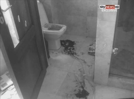 義足ランナー恋人射殺事件、現場の写真が流出1(現場斜視2白黒)