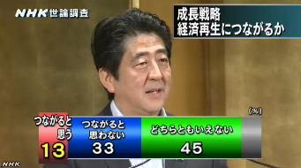 NHK世論調査 内閣支持率6月(国民総所得)