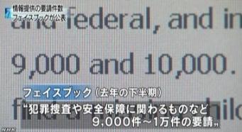 FB・MS 当局からの情報提供要請数公表(NHK6-15)2