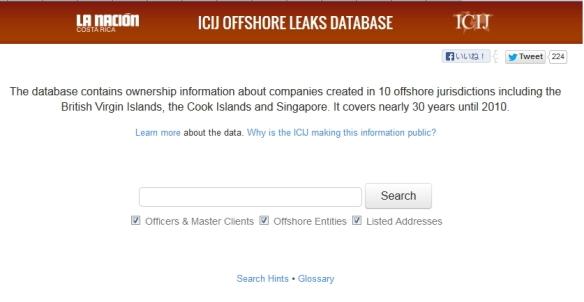 ICIJ公開データベース検索サイト画像2