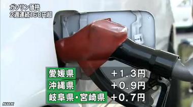 ガソリン価格(エネ庁8月14日発表)_NHK4