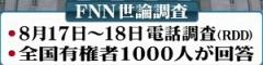 FNN世論調査8月