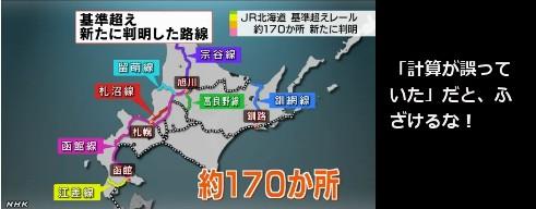 R北海道、道基準の幅超えレール1