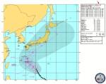 米国海軍・台風進路予想(NRL Tropical Cyclone Page) Warning#24 212100