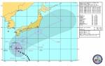 米国海軍・台風進路予想(NRL Tropical Cyclone Page) Warning#28 222100