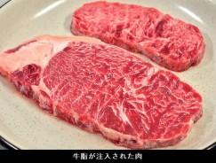 牛脂注入肉 製造現場ルポ(朝日2013-11-14 28面「生活」記事)_牛脂注入肉