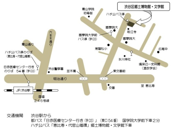 白根記念渋谷区郷土博物館・文学館へのアクセス