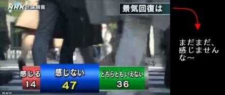 NHK世論調査11月 景気回復を感じるか