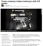 metal gun with 3-D printer(CNN)