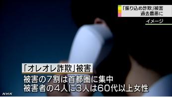 振り込め詐欺、過去最悪に(NHKニュース)画像4