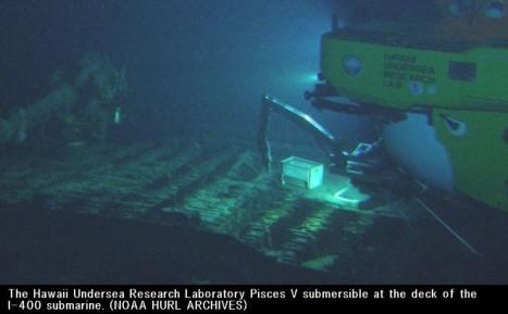 旧日本軍の大型潜水艦伊―400、ハワイ沖で発見