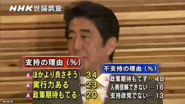 NHK世論調査2014年1月 安倍内閣支持・不支持の理由
