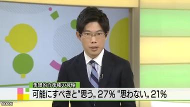 NHK世論調査2014年1月 集団的自衛権ニュース画像