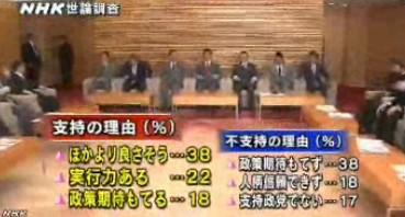 NHK世論調査2014年2月 安倍内閣支持・不支持の理由