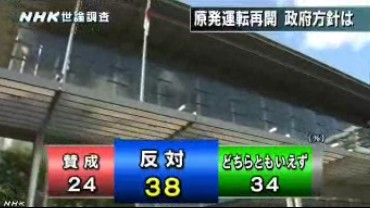 NHK世論調査2014年2月_原発再稼働を賛成か反対か