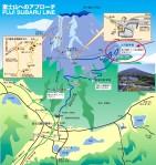 富士山・大雪崩でスバルライン分断_被害現場の地図