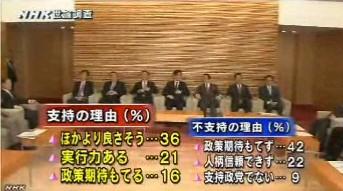 NHK世論調査2014年3月_安倍内閣支持・不支持の理由