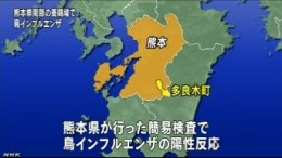 鳥インフルエンザ、熊本・多良木町で2羽から検出(NHK4月13日10時10分)_画像4