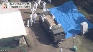 鳥インフル・熊本県多良木町_11万羽余の処分終了、4月14日午後時20分に(NHK4月14日 20時32分)