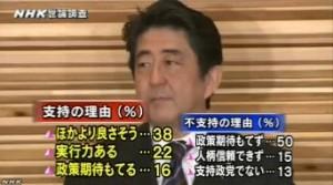 NHK世論調査2014年4月_安倍内閣支持・不支持の理由
