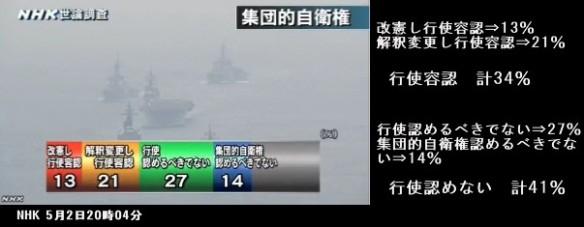 世論調査_集団的自衛権行使の賛否は_NHKニュース5月2日_画像04