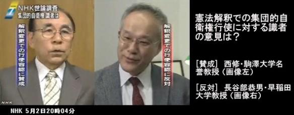 憲法解釈での集団的自衛権行使に対する識者の意見は?_NHKニュース2014-5-2