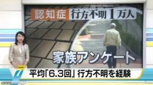 認知症<行方不明1万人>家族アンケート_NHKニュース2014-5-11_画像1