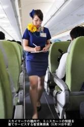 スカイマークA330やっと初就航_ミニスカCAも乗務_6月14日_ミニスカ新制服CA-画像6