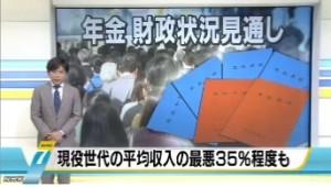 年金財政状況見通し(厚生労働省発表)_NHKニュース2014年6月3日_画像1