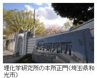 理化学研究所の本所正門(埼玉県和光市)