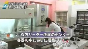 STAP問題 冷凍庫に「ES」容器_NHKニュース6月16日_画像03