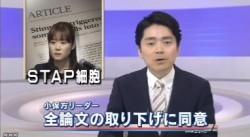 STAP細胞_全論文撤回へ_研究成果白紙に(NHKニュース2014年6月4日)_画像1