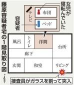 藤原容疑者宅の見取り図