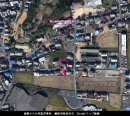 藤原容疑者自宅Googleマップ画像_倉敷小5女児監禁事件