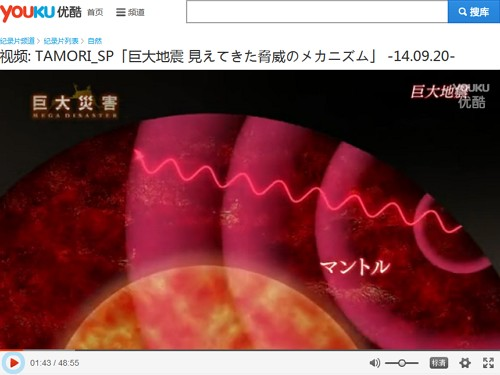 NHKスペシャル_巨大災害<地球大変動の衝撃>第3集巨大地震-見えてきた脅威のメカニズム(動画Youku)画像