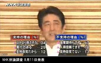 NHK世論調査 8月_内閣支持率_NHKニュース画像04